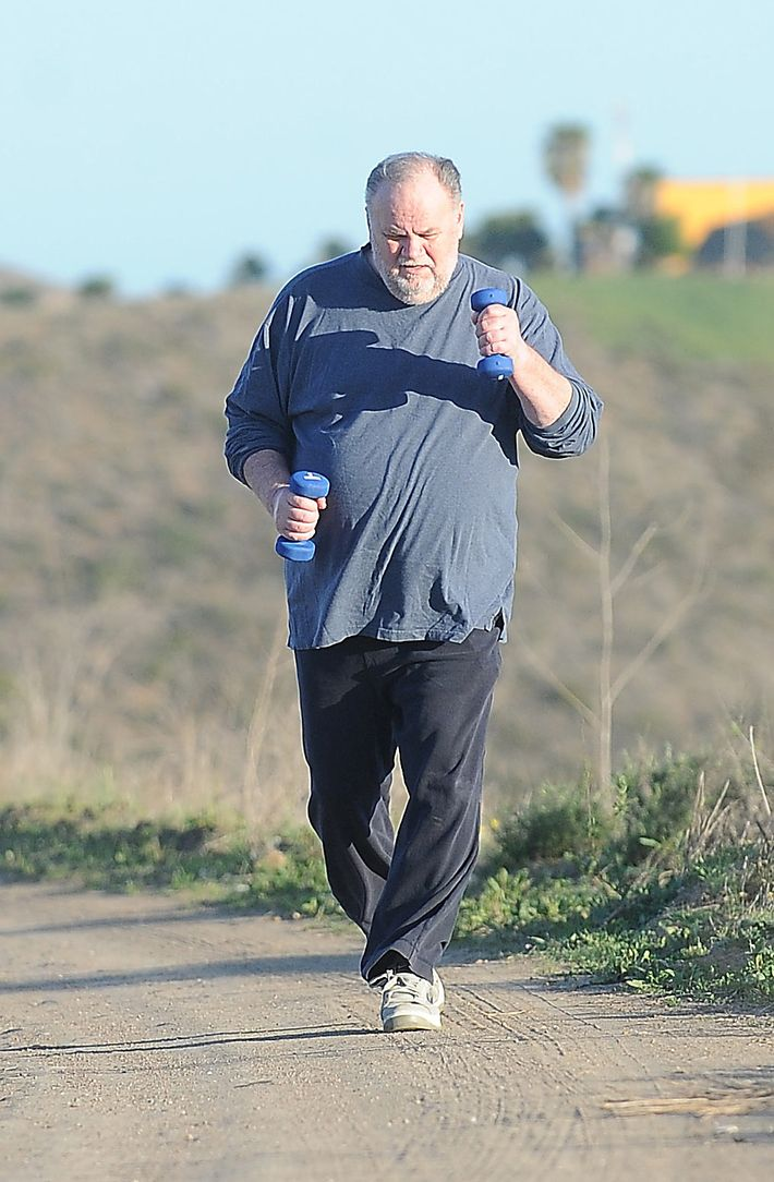 Thomas Markle Sr. exercising.