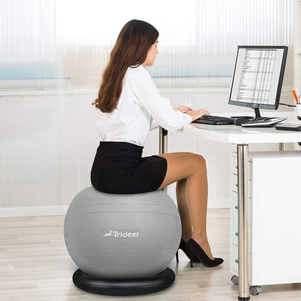 Trideer Exercise Ball Chair 75cm & 9 Best Ergonomic Office Chairs According to Doctors: 2018