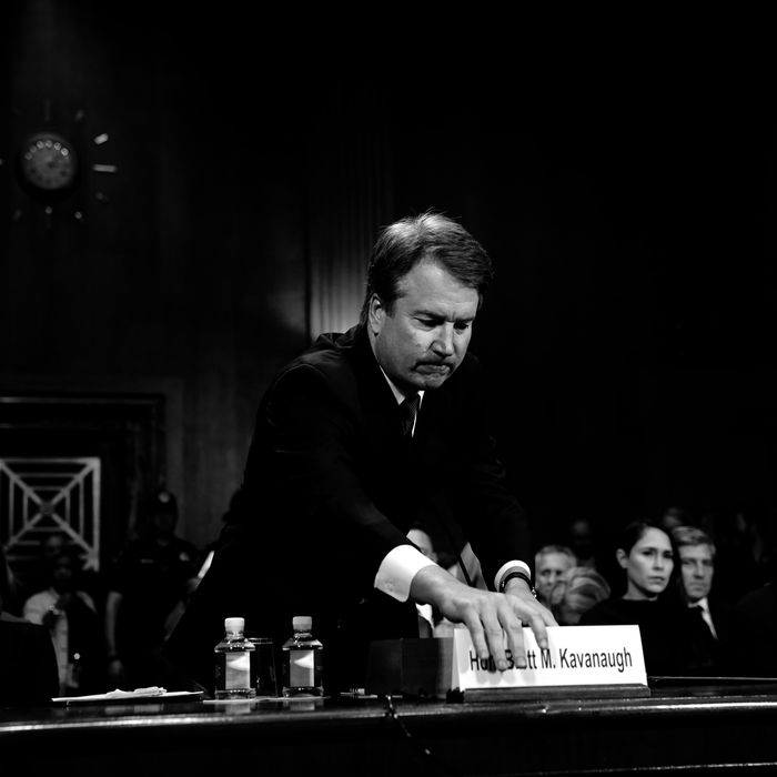 Supreme Court nominee Brett Kavanaugh during Thursday's Senate Judiciary hearing.