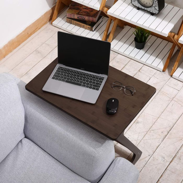 Foldable convertible table for a laptop.