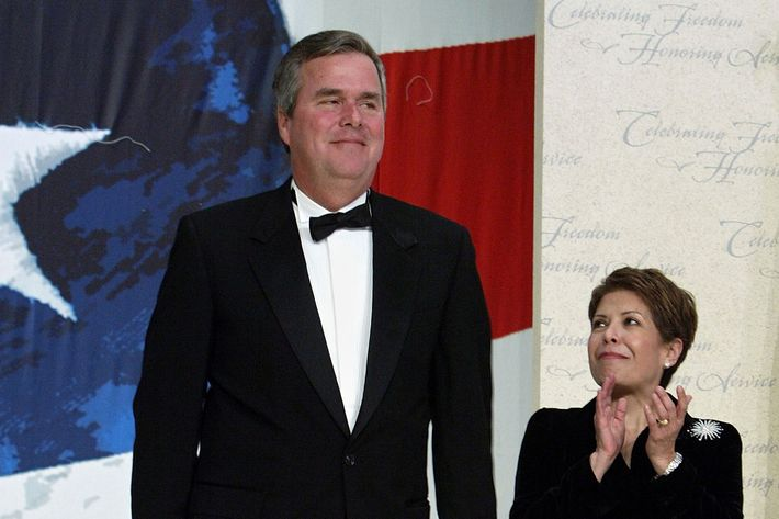 WASHINGTON - JANUARY 20:  Florida goveror Jeb Bush and his wife Columba attend the Texas Wyoming Ball January 20, 2005 in Washington, DC. His brother George W. Bush was inaugurated for a second term as U.S. President earlier in the day.   (Photo by Mario Tama/Getty Images)