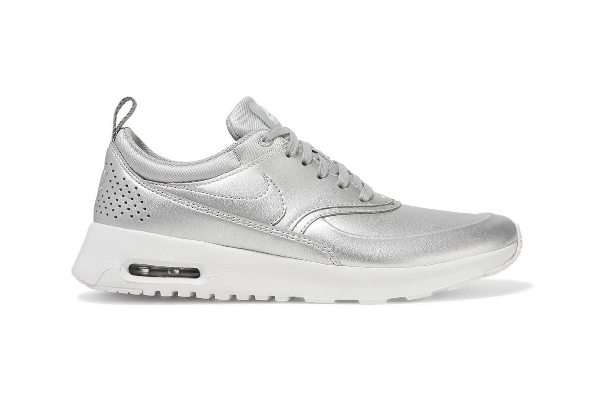Nike Air Max Thea Metallic Leather Sneakers