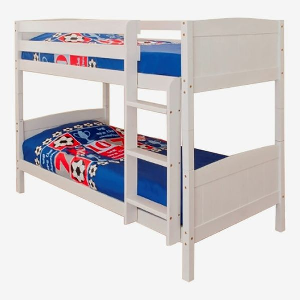 Comfy Living 3ft Single Bunk Bed White Wash Finish