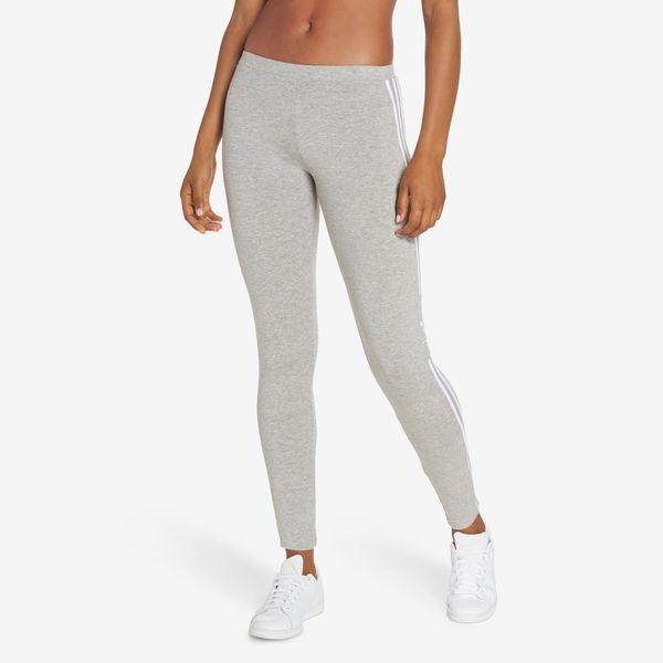 grey adidas 3 stripes logo leggings - strategist nordstrom anniversary sale