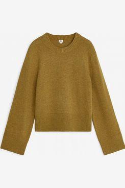 Arket Boxy Wool Jumper (Yellow)