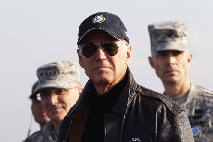U.S. Vice President Joe Biden visits to observation post Ouellette at the Demilitarized Zone (DMZ) on December 7, 2013 in Panmunjom, South Korea. Vice President Biden has been visiting Japan, China and South Korea this week. Some of the main issues to discuss are the Trans-Pacific Partnership, diplomacy on the East China Sea and the South China Sea, economic relationship with China, implementation of the U.S.-Korea Free Trade Agreement, and alliance issues in both Japan and Korea.