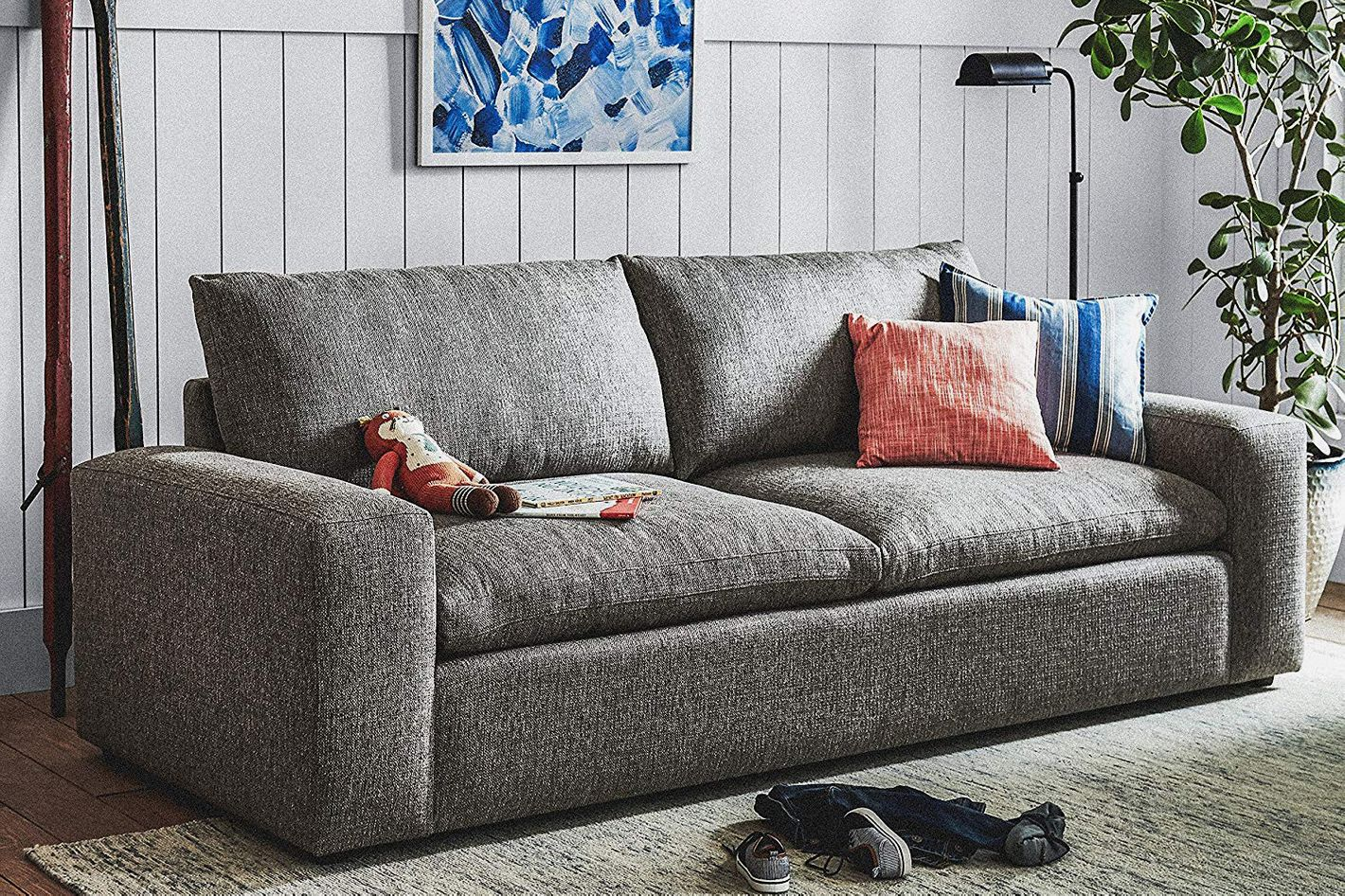 Stone U0026 Beam Hoffman Down Filled Performance Sofa At Amazon