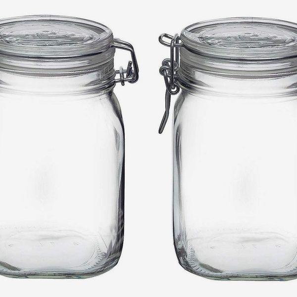 Bormioli Rocco Fido Clear Jar, 2-pack