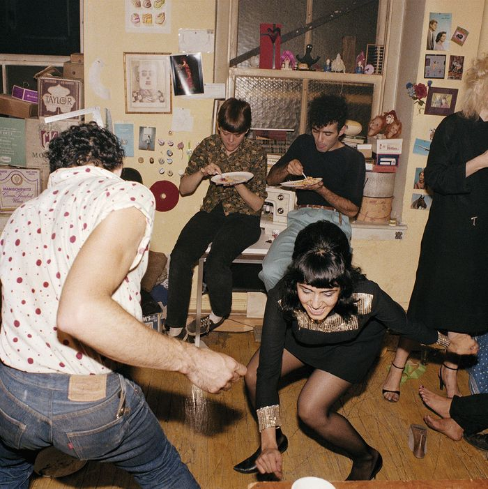 Nan Goldin, Twisting at my birthday party, New York City 1980, from The Ballad of Sexual Dependency (Aperture 2012)