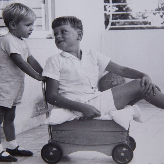 With youngest brother, Nick Jr, Hong Kong, 1967 (or thereabouts).