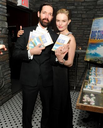 Director Michael Polish and actress Kate Bosworth attend the