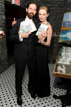 """Director Michael Polish and actress Kate Bosworth attend the """"Big Sur"""" premiere after party at Hotel Chantelle on October 28, 2013 in New York City."""