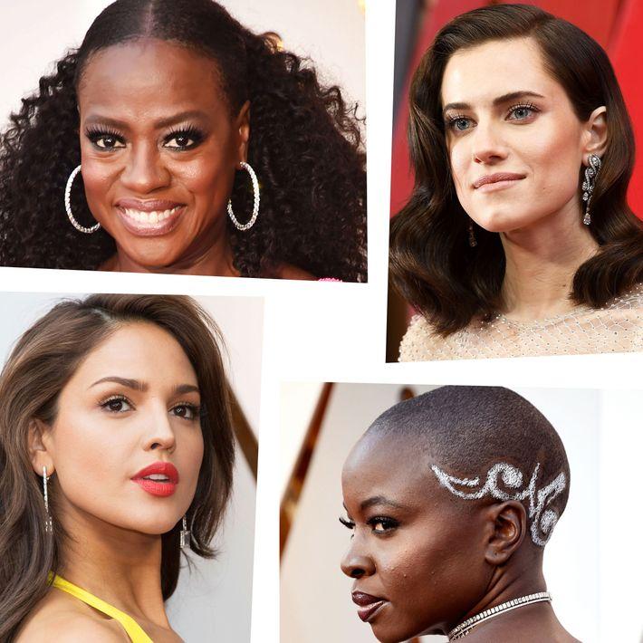 2018 Oscars hair and makeup
