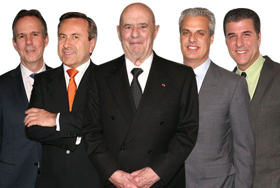 From left: Thomas Keller, Daniel Boulud, Paul Bocuse, Eric Ripert, and Michael Chiarello