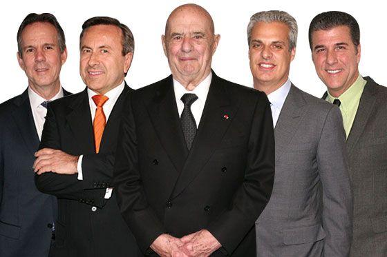 From left: Thomas Keller, Daniel Boulud, Paul Bocuse, Eric Ripert, and Michael Chiarello
