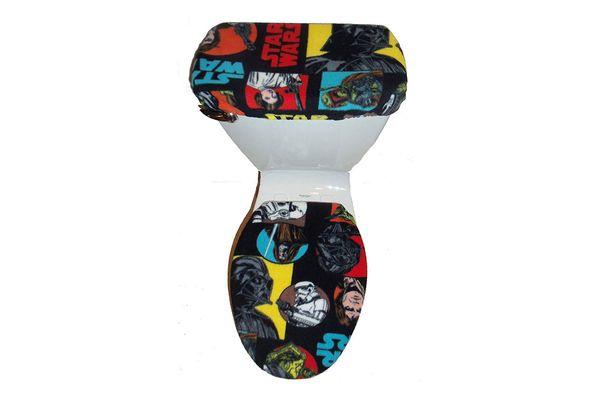 Darth Vader Fleece Fabric Toilet Seat Cover Set