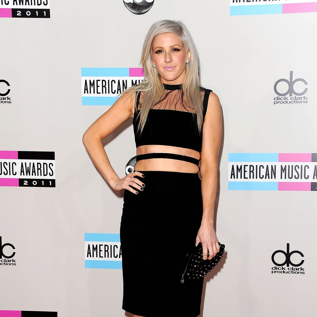 Singer Ellie Goulding arrives at the 2011 American Music Awards held at Nokia Theatre L.A. LIVE on November 20, 2011 in Los Angeles, California.