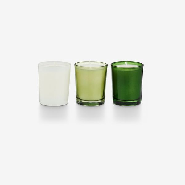 white lime green illume fir votive candle set - strategist nordstrom sale 2019