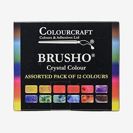 Brusho Crystal Colour Starter Set Of 12