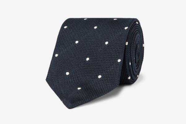 Drake's 8-cm Polka-Dot Silk-Grenadine Tie