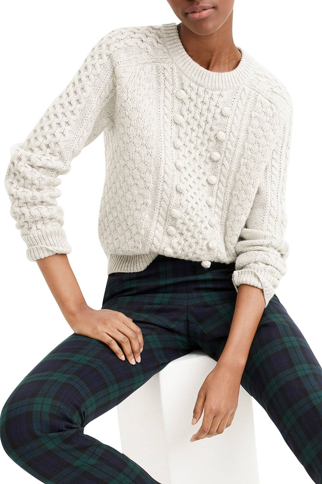 J.Crew Popcorn Cable Knit Sweater