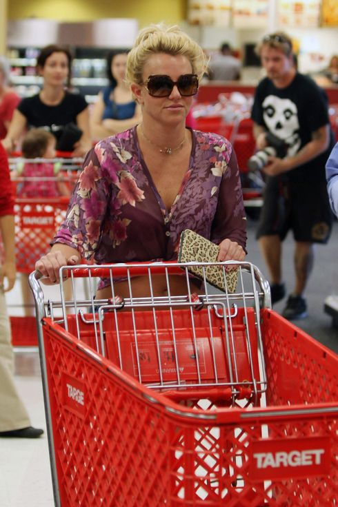 Britney Spears takes a second trip to Target in Calabasas.
