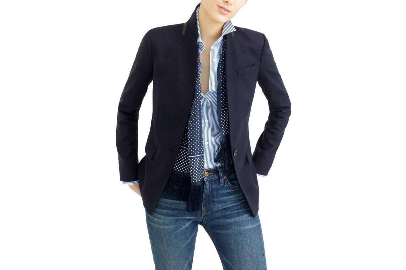 J. Crew Regent Stand Collar Blazer