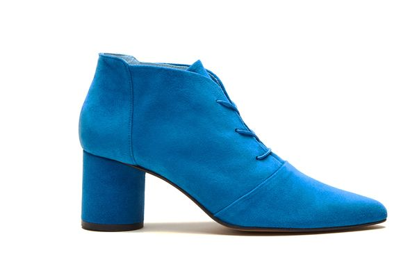 Galway Blue Suede Lace-Up Boot