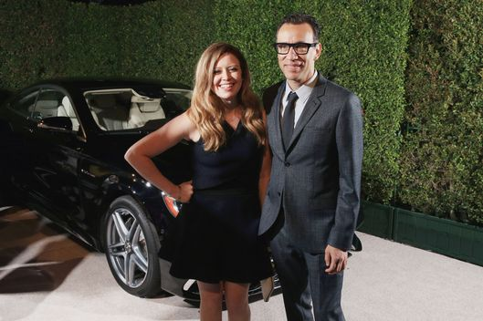 WEST HOLLYWOOD, CA - AUGUST 23: Actress Natasha Lyonne (L) and actor Fred Armisen attend Variety and Women in Film Emmy Nominee Celebration powered by Samsung Galaxy on August 23, 2014 in West Hollywood, California.  (Photo by Christopher Polk/Getty Images for Variety)