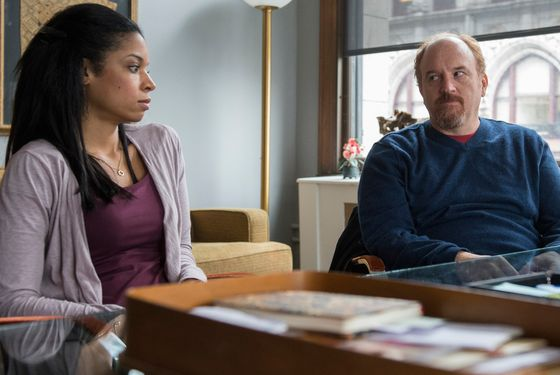 "LOUIE: Episode 7: ""Elevator Part 4"" (Airs Monday, May 26, 10:00 pm e/p). Pictured: (L-R) Susan Kelechi-Watson as Janet, Louis C.K. as Louie. CR: KC Bailey/FX"