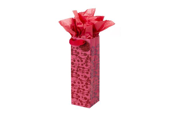 Hallmark Bottle Gift Bag with Tissue Paper (Dots and Dashes)