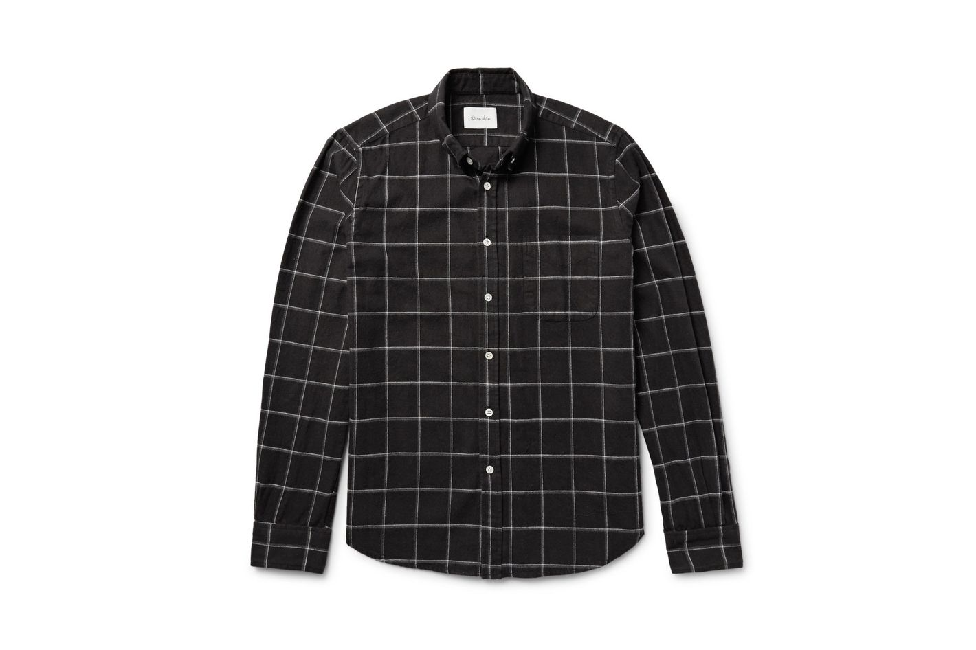 Steven Alan Button-Down Collar Windowpane-Checked Shirt
