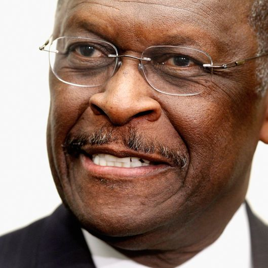 "WASHINGTON, DC - NOVEMBER 02:  Republican presidential candidate and former CEO of Godfather's Pizza Herman Cain participates in a discussion with members of the Congressional Health Care Caucus on Capitol Hill November 2, 2011 in Washington, DC. Part of the ""Thought Leaders Series,"" Cain and members of the caucus discussed the current health care system and health care initiatives for the future. Cain has been making headlines for the past two days after POLITICO.com reported Sunday that the National Restaurant Association paid settlements to two female employees who accused Cain of harassment when he was president of the association in the 1990s.  (Photo by Chip Somodevilla/Getty Images)"