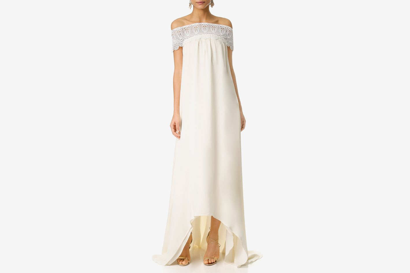Self-Portrait Off-the-Shoulder Gown