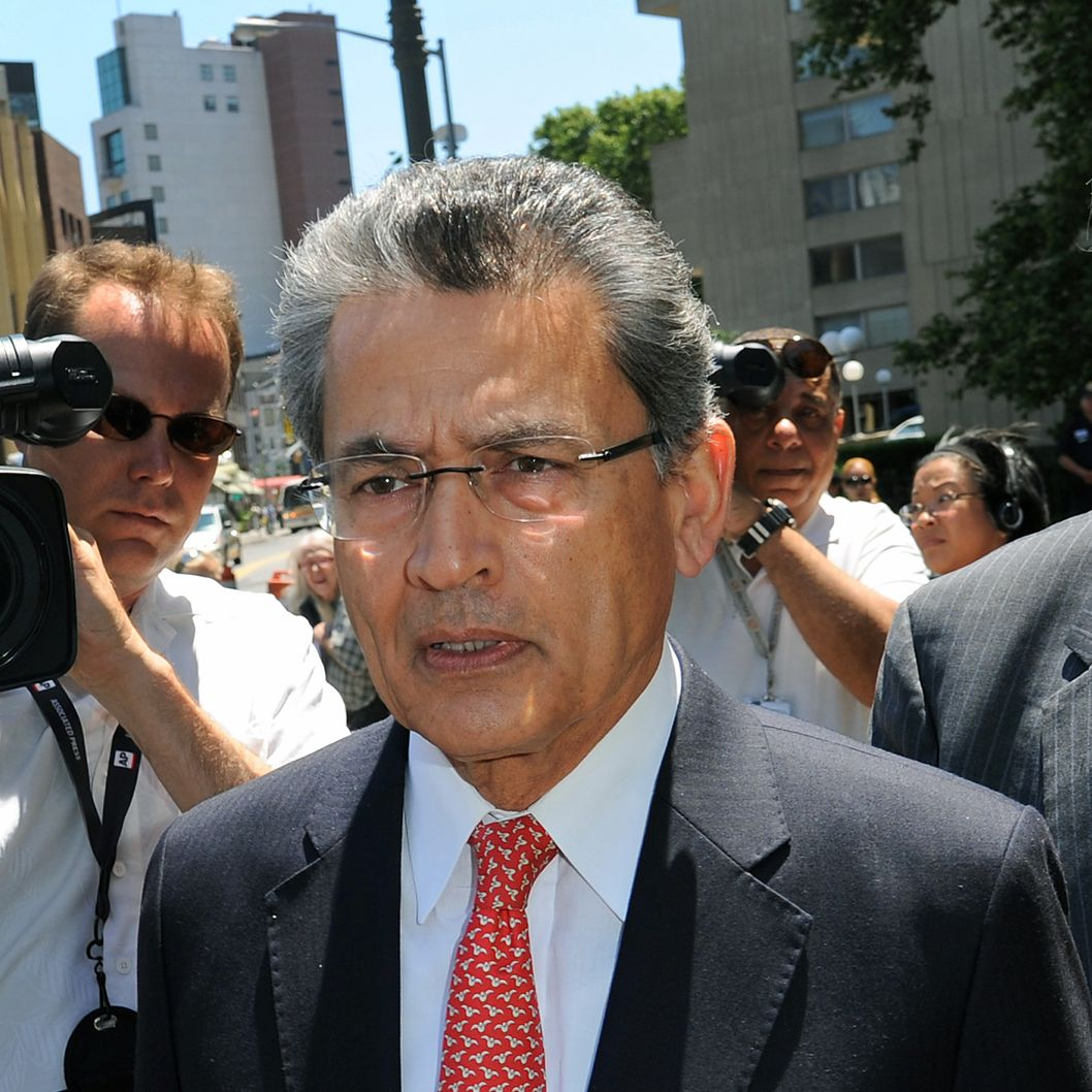 Rajat Gupta, former Goldman Sachs Inc. director and former senior partner at McKinsey & Co., exits federal court in New York, U.S., on Friday, June 15, 2012. Gupta, 63, was convicted by a federal jury for leaking inside information to hedge-fund manager Raj Rajaratnam.