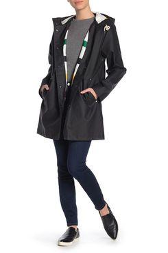 Pendleton Olympic Hooded Slicker Coat, Black