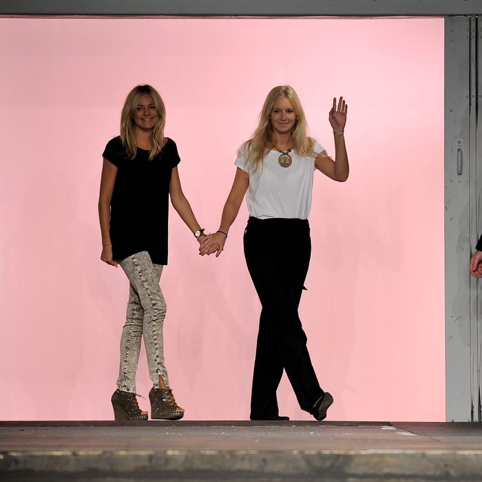 Sienna and Savannah Miller at their spring 2011 Twenty8Twelve show.