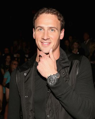 NEW YORK, NY - SEPTEMBER 07: Olympian Ryan Lochte attends the Rebecca Minkoff Spring 2013 fashion show for TRESemme during Mercedes-Benz Fashion Week at The Theater at Lincoln Center on September 7, 2012 in New York City. (Photo by Astrid Stawiarz/Getty Images for TRESemme)