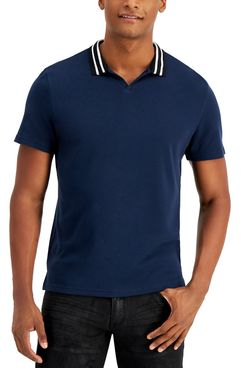 INC International Concepts Men's Nate Track Knit Polo