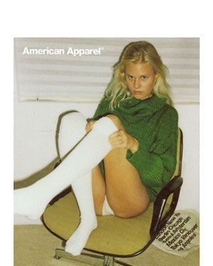 American Apparel's banned ad.