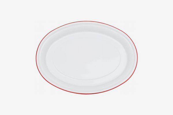 Enamelware Oval Serving Platter