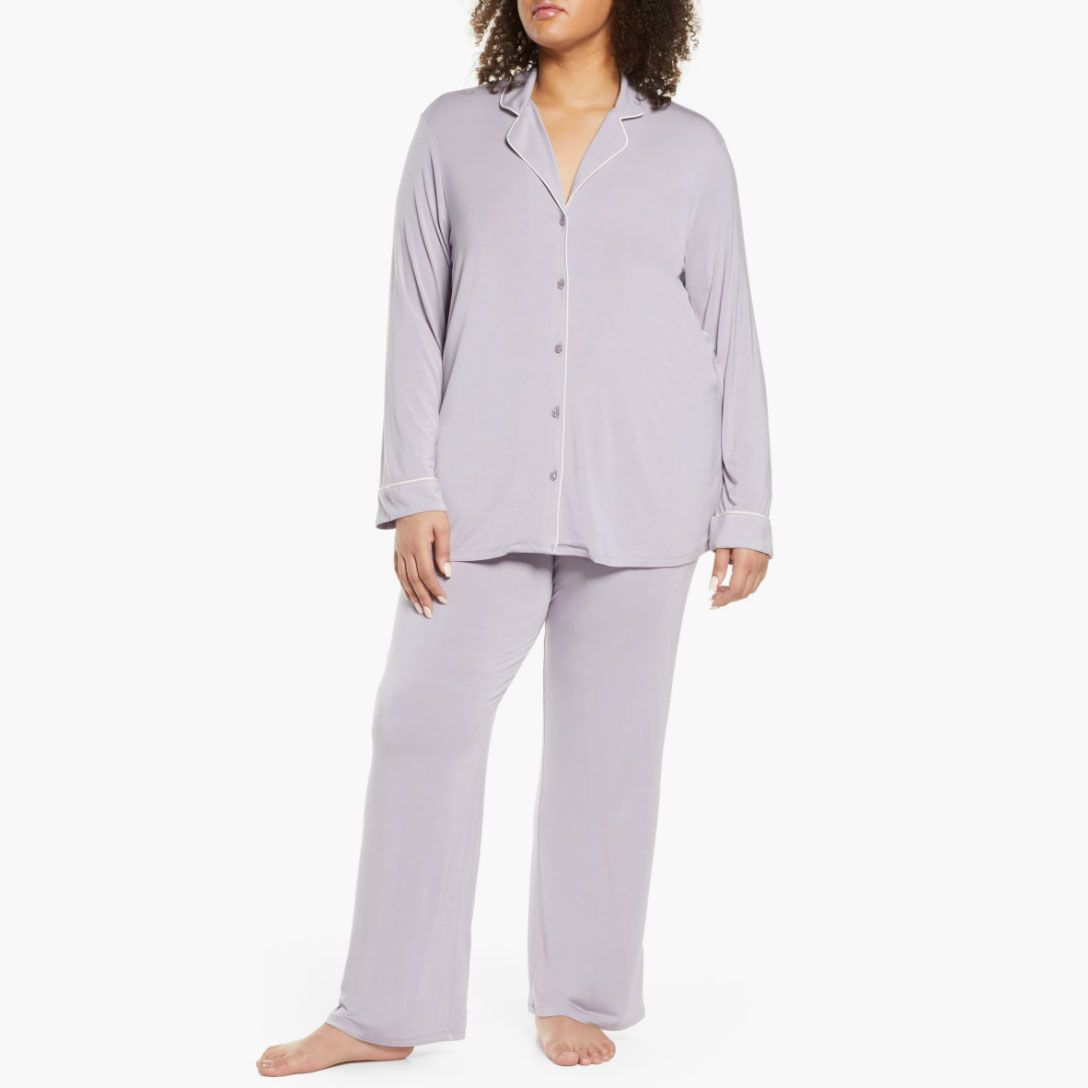 Love To Sleep Striped Dream With Me Soft Jersey Women's
