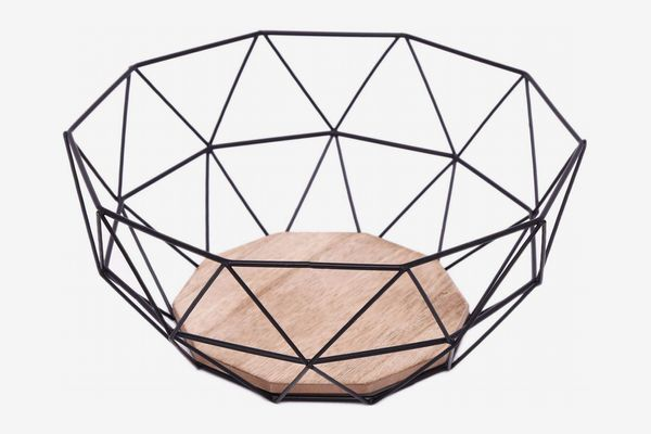 Black Geometric Fruit Bowl