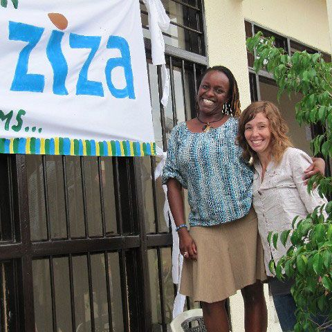 Blue Marble co-founder Alexis Miesen and Kiki Katese.