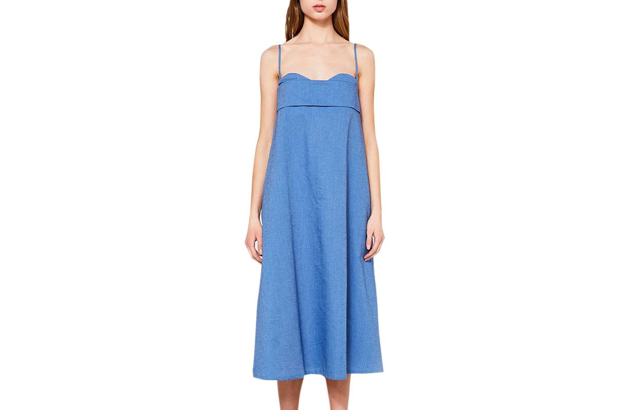 Toit Volant Verona Dress in Chambray