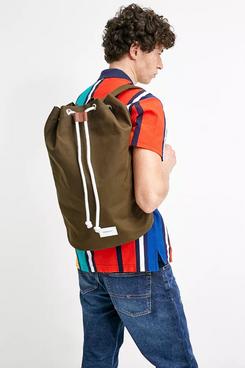 Sandqvist Evert Olive Drawstring Backpack