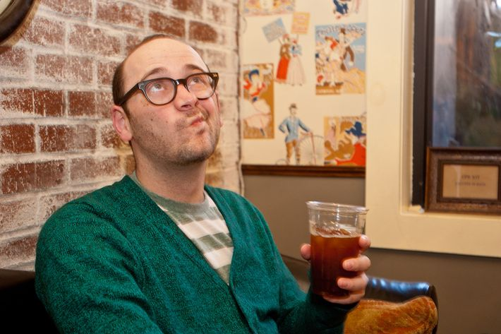"""""""Instead of dinner, I had coffee, so I'd be awake enough to drink beer."""""""