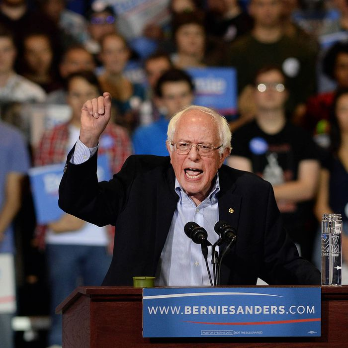 Democratic Presidential Candidate Bernie Sanders Holds Rally At Boston Convention Center