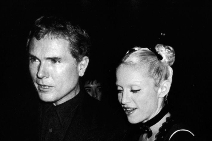 Glenn O'Brien with Madonna in 1992.
