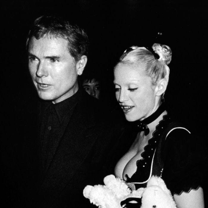 Glenn O'Brien with Madonna in 1992.